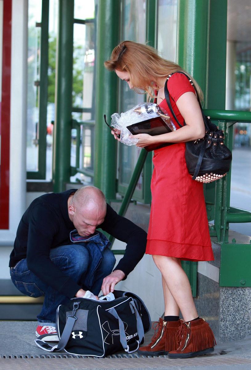 """""""Diablo"""" z żoną Małgorzatą. Para jest w trakcie rozwodu /Tomasz Radzik /East News"""