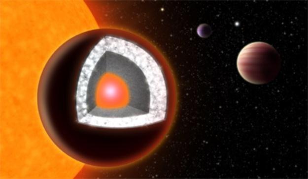 Diamentowa planeta - wizualizacja /NASA
