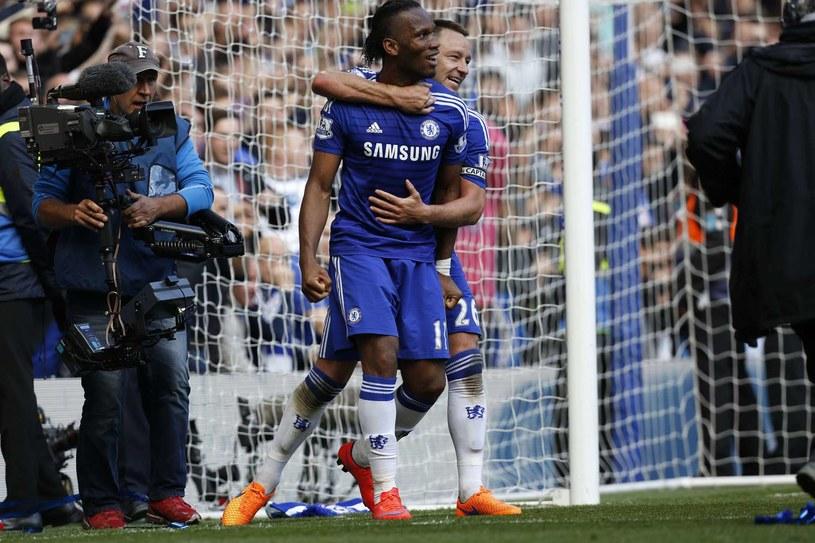 Didier Drogba, a z tyłu John Terry /AFP