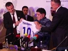 Diego Maradona zaprezentowany przez Dynamo Brześć