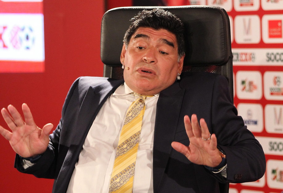 Diego Maradona /JAMAL NASRALLAH /PAP/EPA