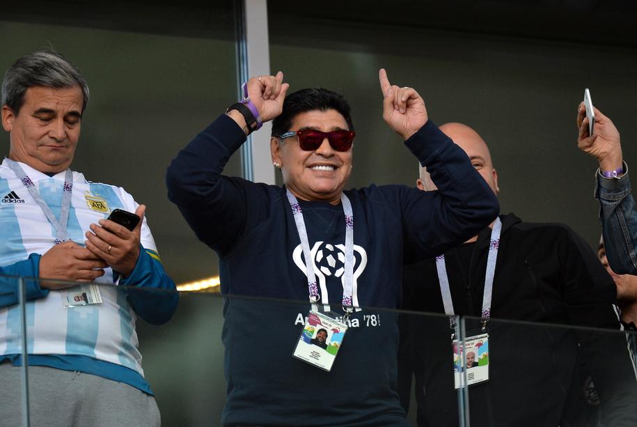 Diego Maradona /PETER POWELL   /PAP/EPA