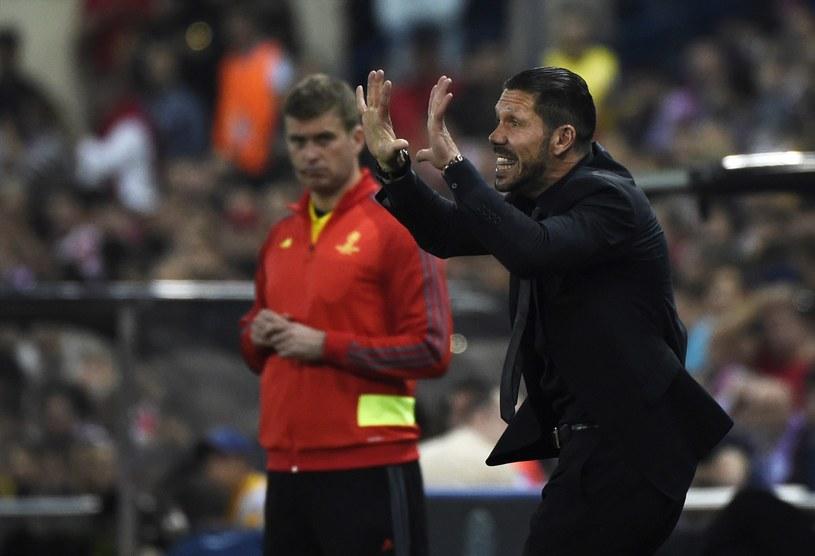 Diego Simeone podczas meczu z Barceloną /AFP