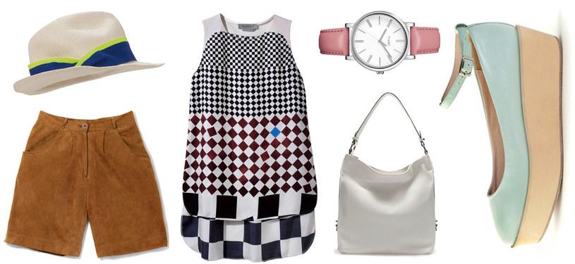 Dla miłośniczek stylu retro: szorty - TK MAXX | kapelusz - Merella | tunika - Sportmax | zegarek - Timex | Torba - Zara | buty - Springfield /Twój Styl