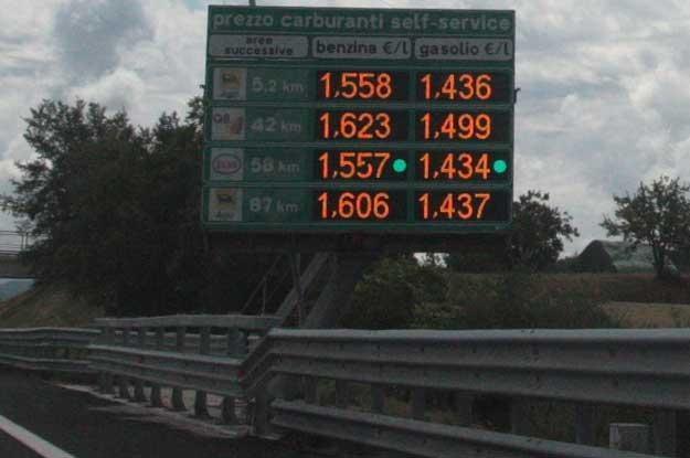 Dla porównania ceny we... Włoszech. Z wczoraj... /INTERIA.PL