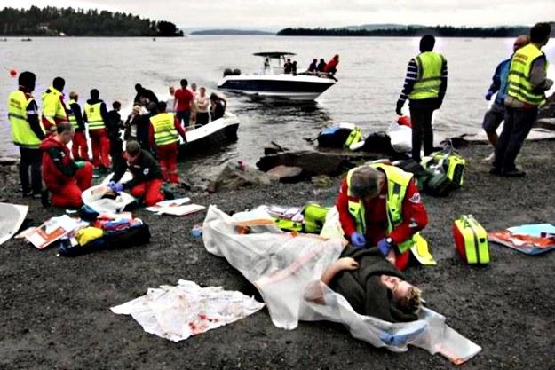 Do masakry doszło na wyspie Utoya /AFP