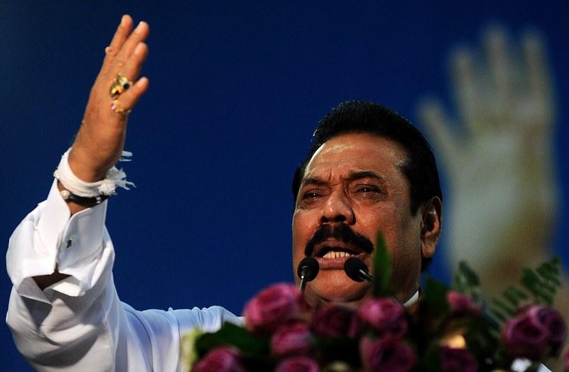 Do parlamentu kandyduje były prezydent Sri Lanki Mahinda Rajapakse /Ishara S. KODIKARA  /AFP