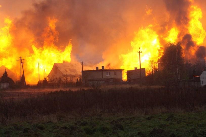 Do rozszczelnieniu gazociągu i pożaru w Jankowie Przygodzkim doszło 14 listopada /AFP