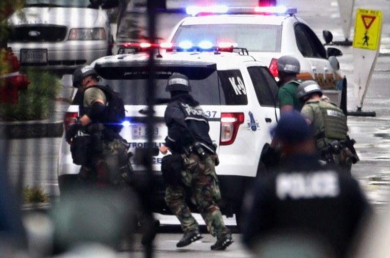 Do strzelaniny doszło w Navy Yard, nieczynnej stoczni i fabryce broni nad rzeką Anacostia /AFP