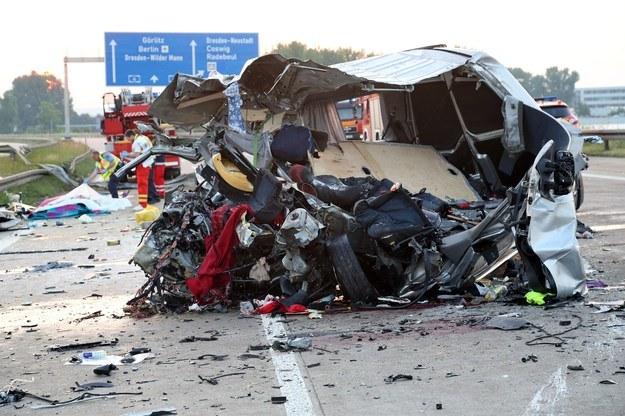 Do wypadku doszło na autostradzie A4 w okolicy Drezna. /AFP