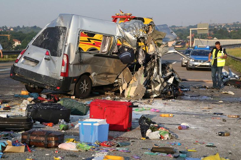 Do wypadku doszło niedaleko Drezna /PAP/EPA