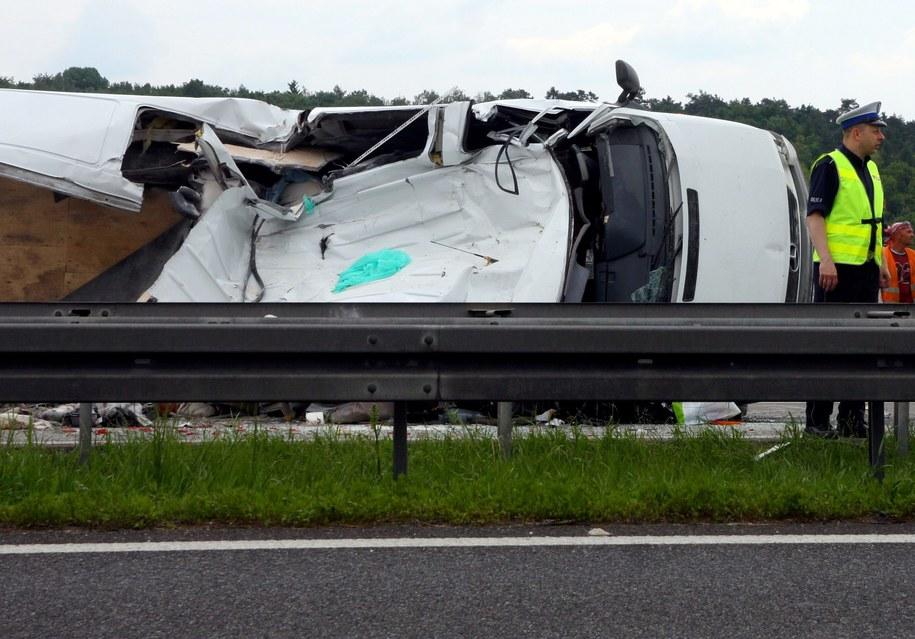 Do wypadku na A4 pod Krapkowicami doszło 5 czerwca /Krzysztof Świderski /PAP