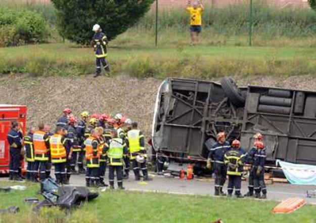Do wypadku polskiego autokaru doszło pod Miluzą we Francji/fot. Patric Seeger /PAP/EPA