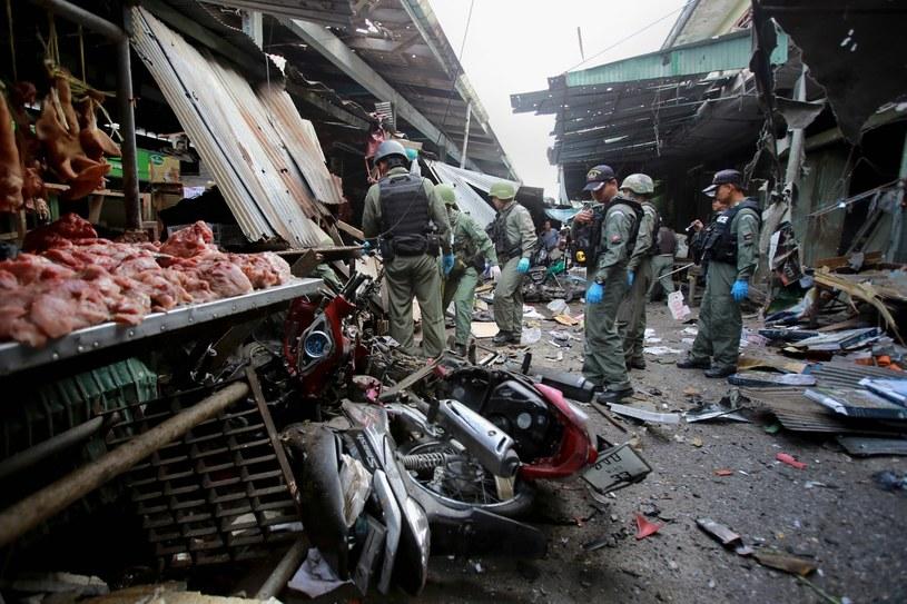Do zamachu doszło na targu w mieście Jala w południowej Tajlandii /NAKHARIN CHINNAWORNKOMOL /PAP/EPA