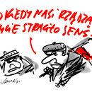 """""""Dobra zmiana grubą kreską"""" – wybór rysunków Henryka Sawki"""