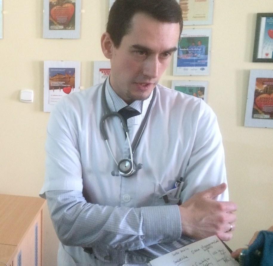Doktor Stanisław Tubek, który przeprowadził zabieg /Bartłomiej Paulus /RMF FM