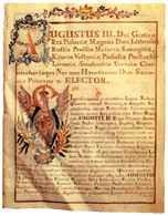 Dokument króla Augusta III potwierdzający ustawy cechu krawieckiego miasta Nowej Warszawy /Encyklopedia Internautica