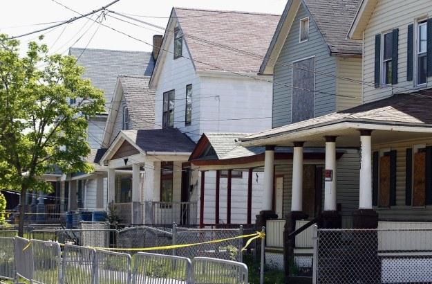 Dom, w którym przetrzymywane były kobiety /AFP