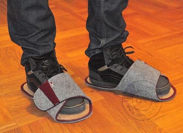 Domowe ochraniacze na buty /materiały promocyjne