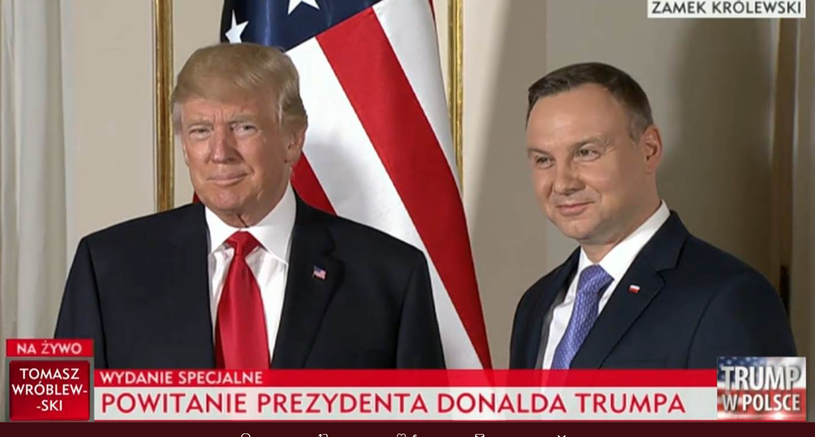 Donald Trump i Andrzej Duda /TVP
