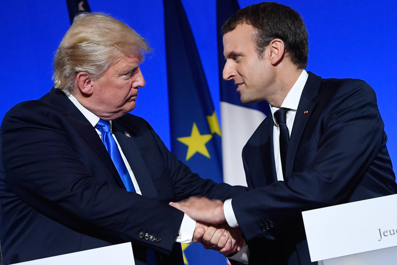 Donald Trump i Emmanuel Macron /SAUL LOEB /AFP