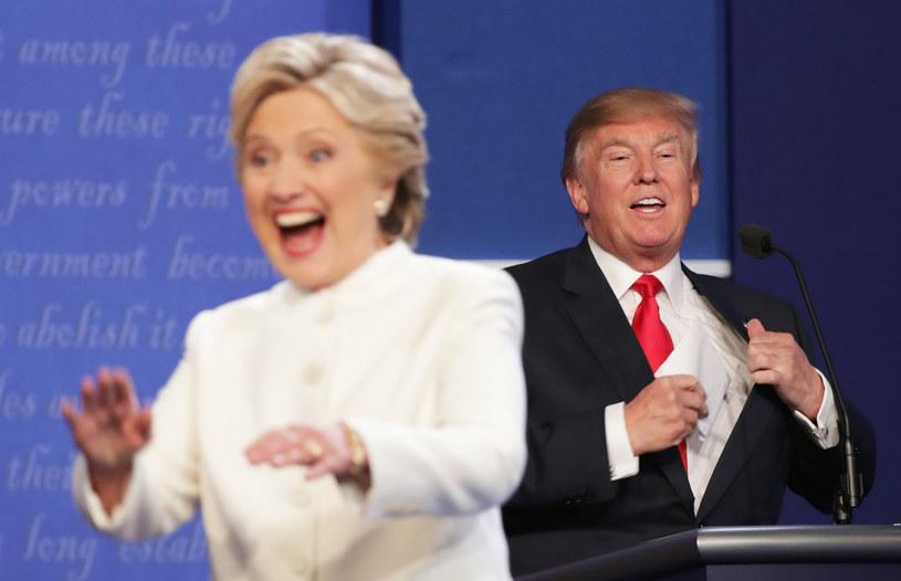 Donald Trump i Hillary Clinton podczas ostatniej debaty prezydenckiej /CHIP SOMODEVILLA / GETTY IMAGES NORTH AMERICA  /AFP