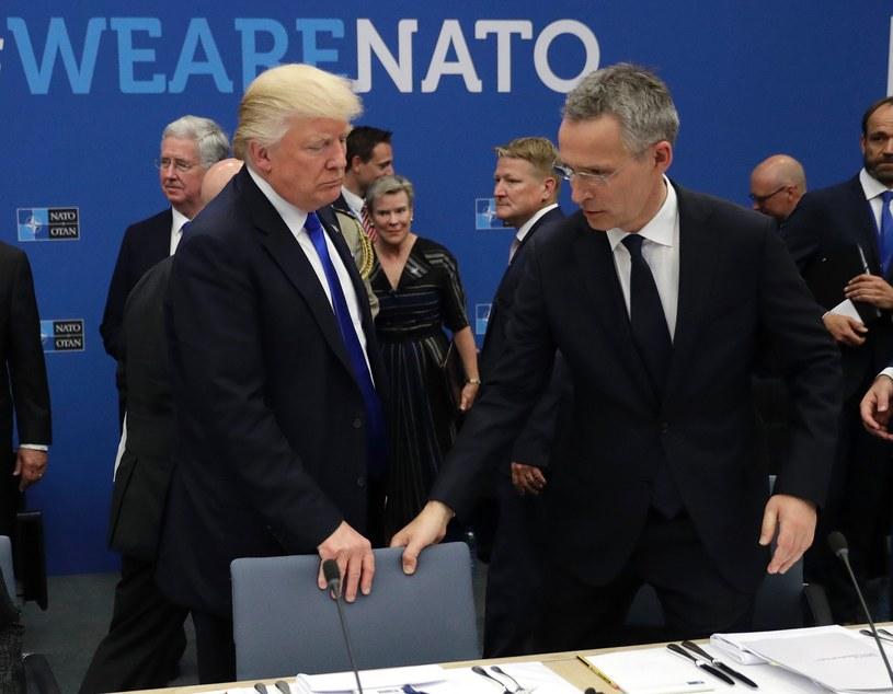 Donald Trump i Jens Stoltenberg /AFP