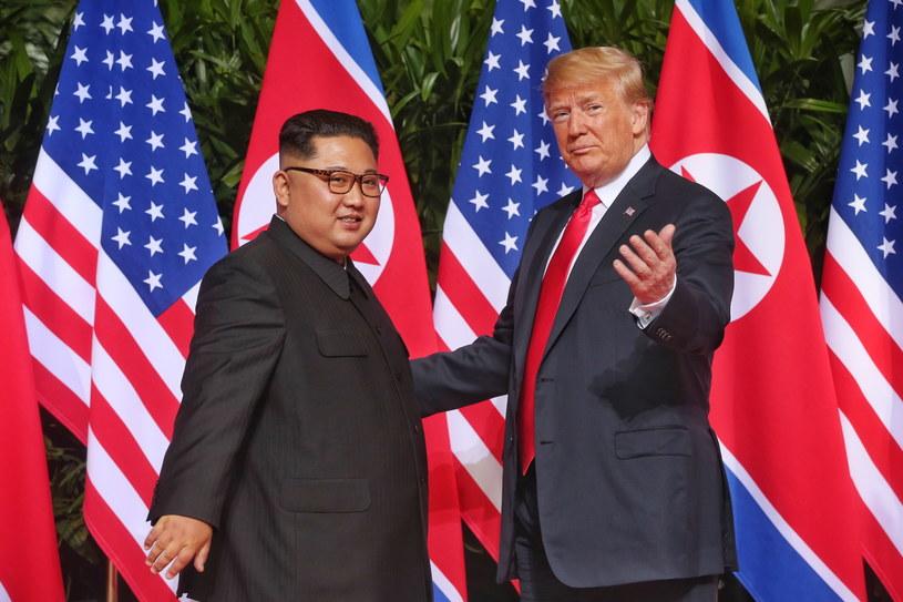 Donald Trump i Kim Dzong Un /PAP/EPA