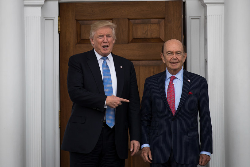 Donald Trump i Wilbur Ross /Drew Angerer;  /Getty Images