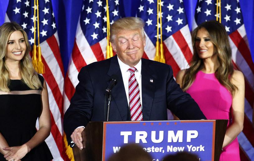 Donald Trump z córką i z żoną /AFP