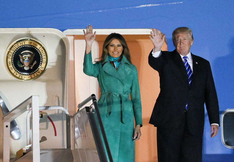 Donald Trump z małżonką /Paweł Supernak /PAP