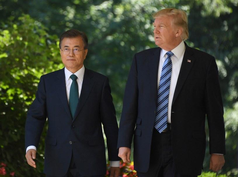 Donald Trump z Mun Dze Inem /AFP