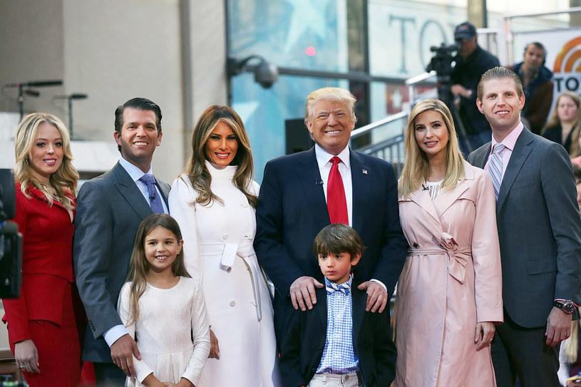 Donald Trump z rodziną /Spencer Platt /Getty Images