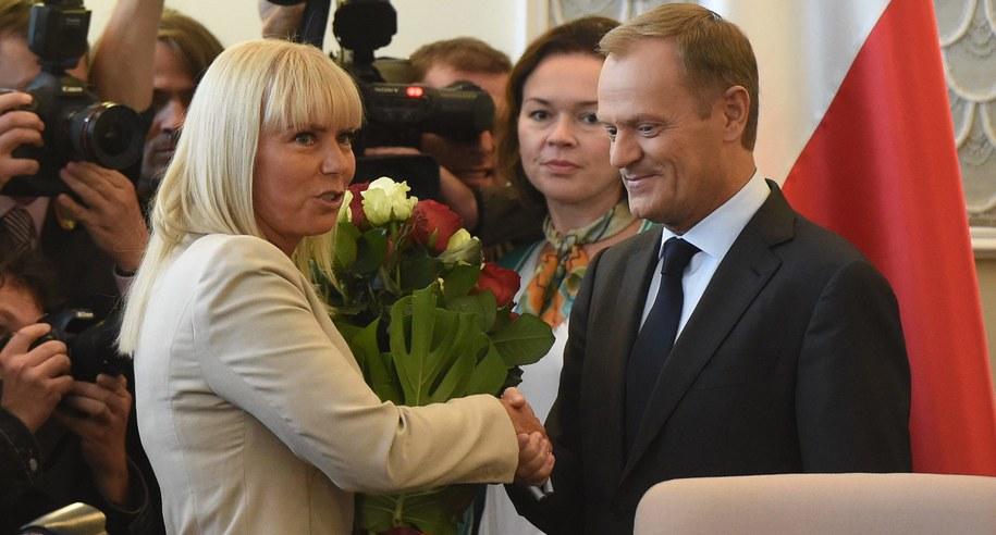 Donald Tusk i Elżbieta Bieńkowska /PAP/Radek Pietruszka    /PAP
