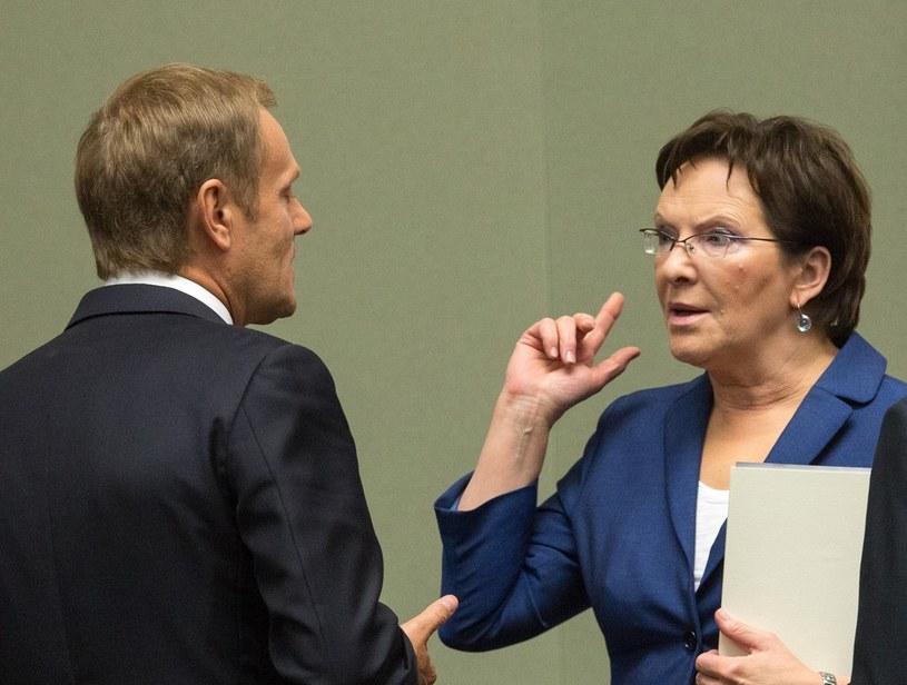 Donald Tusk i Ewa Kopacz /Andrzej Iwańczuk /Reporter