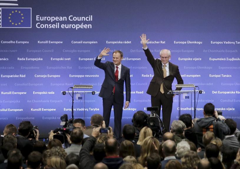 Donald Tusk i Herman Van Rompuy /PAP/EPA