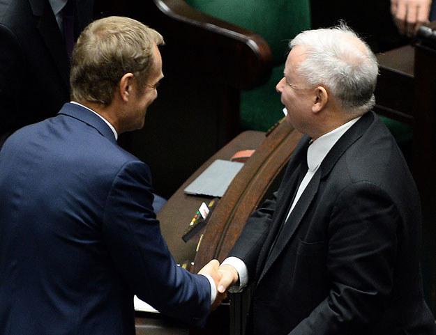 Donald Tusk i Jarosław Kaczyński: Jeszcze wrogowie? /AFP
