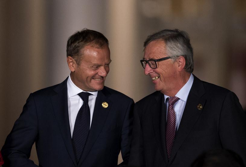 Donald Tusk i Jean-Claude Juncker /AFP