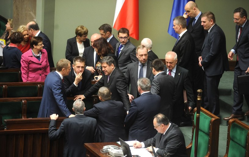 Donald Tusk i jego ministrowie /Witold Rozbicki /Reporter