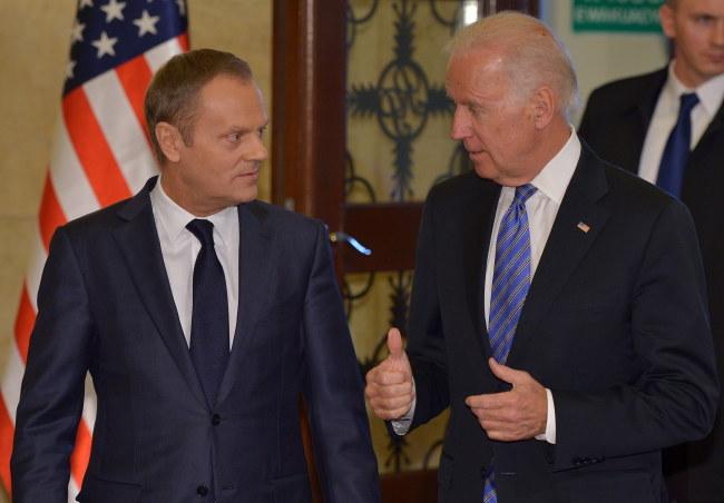 Donald Tusk i Joe Biden /Radek Pietruszka /PAP