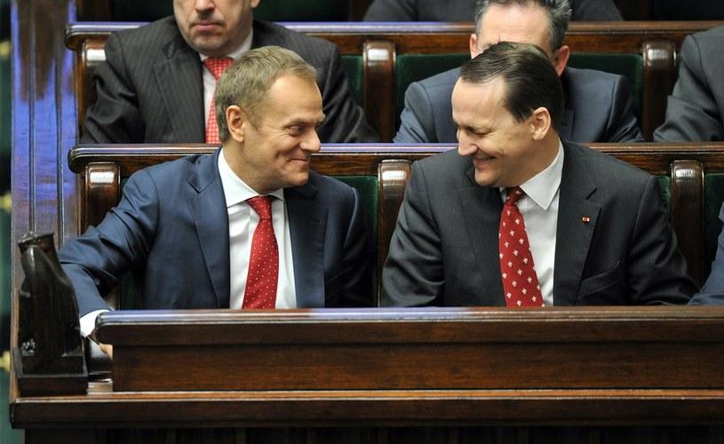 Donald Tusk i Radosław Sikorski /Piotr Bławicki /East News