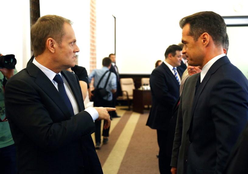 Donald Tusk i Sławomir Nowak /Tomasz Gzell /PAP