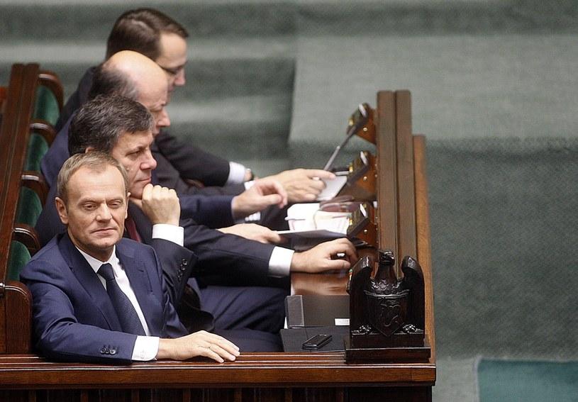Donald Tusk, Janusz Piechocinski, Jacek Rostowski ,Radoslaw Sikorski /Adam Guz /Reporter