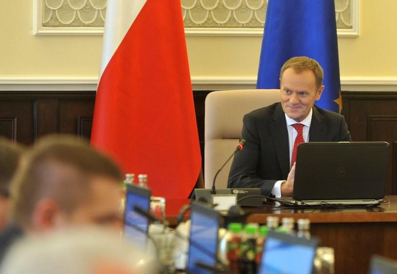 Donald Tusk na posiedzeniu rządu /Witold Rozbicki /Reporter