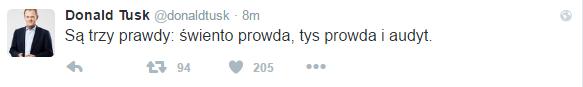 Donald Tusk na Twitterze /Twitter