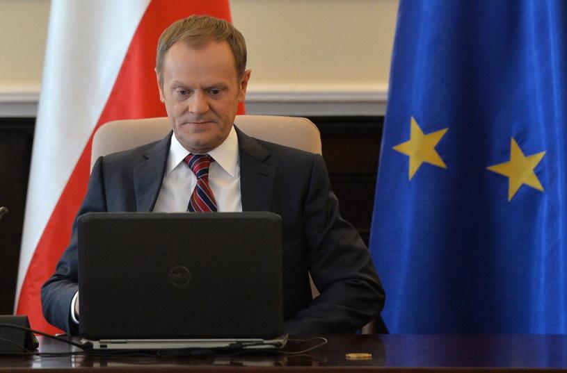 Donald Tusk, szef rządu /Radek Pietruszka /PAP