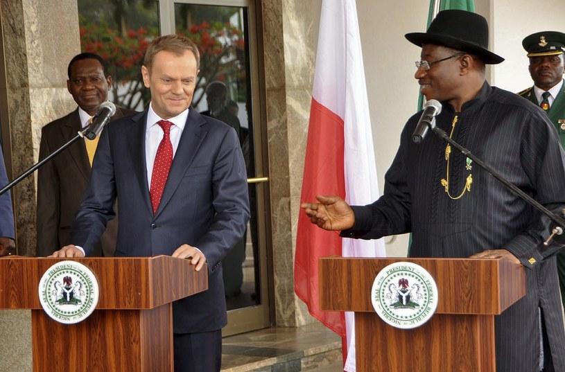 Donald Tusk w Nigerii /Deji Yake  /EPA