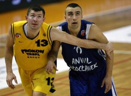 Donatas Slanina i Andrzej Pluta, FOT.Wojciech Figurski /Agencja Przegląd Sportowy