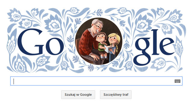 Doodle z okazji Dnia Dziadka 2014 /materiały prasowe