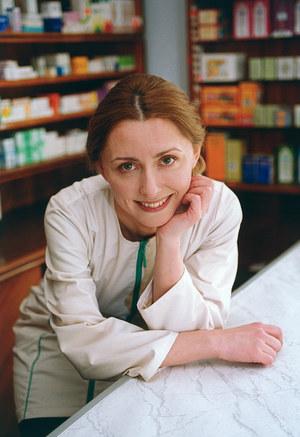 Dorota Lanton w 2001 r. na planie sagi rodu Lubiczów /fot  /AKPA